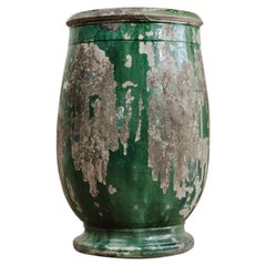 19th Century Glazed Terracotta Castelnaudary Vase/Jardinière/Planter