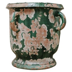 19th Century Glazed Terra Cotta Vase/Jardinière/Planter