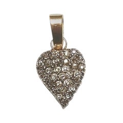 19th Century Gold and Diamonds Heart Pendant