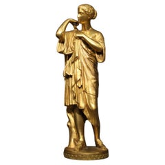 19th Century Gold Bronze French Signed Sculpture, 1880