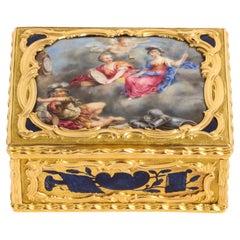 19th Century Gold & Enamel Snuff Box