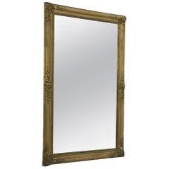 19th Century Gold Gilt Gesso French Mirror
