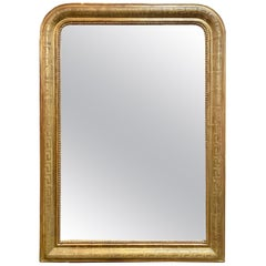19th Century Gold Louis Philippe Mirror with Greek Key Image