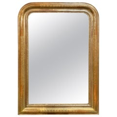 19th Century Gold Louis Philippe Mirror with X-Pattern