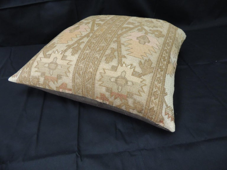 Moorish 19th Century Gold Turkish Embroidery Throw Pillow For Sale
