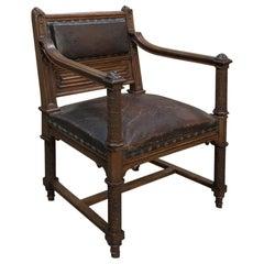 19th Century Gothic Desk Armchair