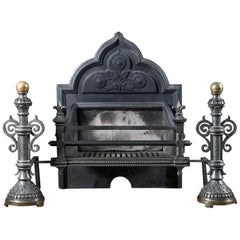 19th Century Gothic Revival Fire Grate in the Manner of A.W.N. Pugin