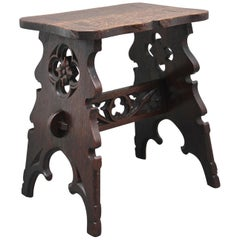 19th Century Gothic Revival Oak Stool