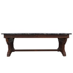 19th Century Gothic Revival Table by Henri Fourdinois