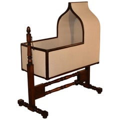 19th Century Gothic Revival Walnut Cradle