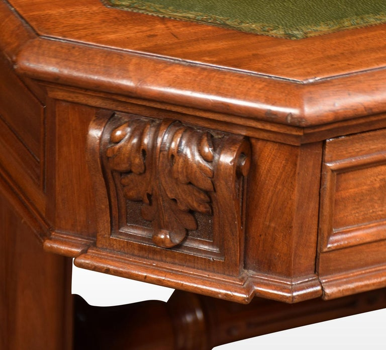 Mahogany 19th Century Gothic Style Library Table For Sale