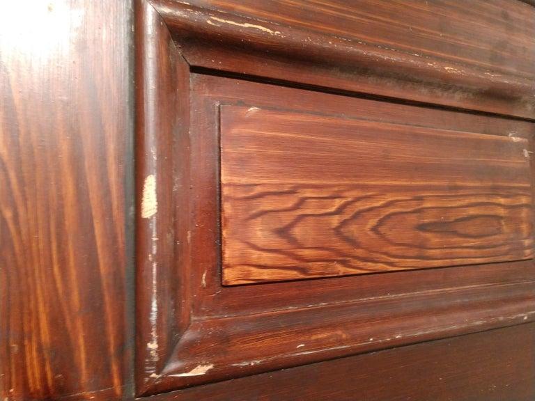 19th Century Grain Painted Paneled Wood Door For Sale 5