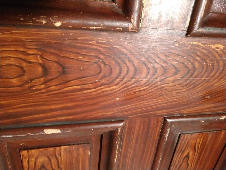 19th Century Grain Painted Paneled Wood Door For Sale 6