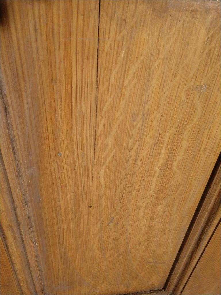 American 19th Century Grain Painted Paneled Wood Door For Sale