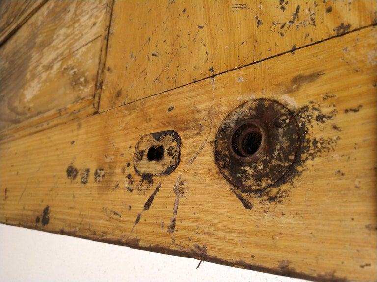 19th Century Grain Painted Paneled Wood Door For Sale 1