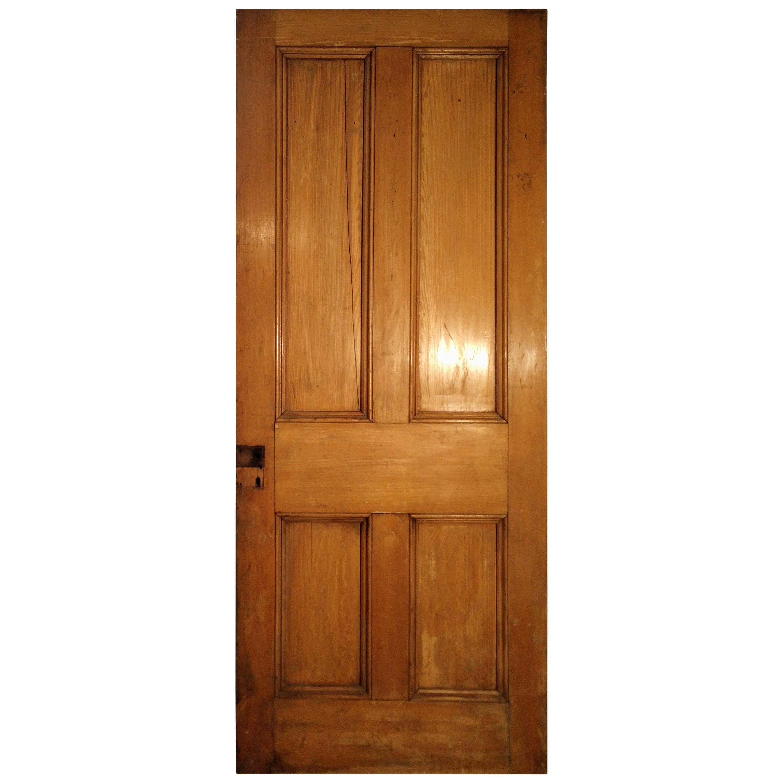 19th Century Grain Painted Paneled Wood Door