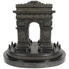 19th Century Grand Tour Bronze Architectural Model of the Arc De Triomphe, Paris
