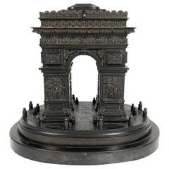 19th Century Grand Tour Bronze Architectural Model of the Arc De Triomphe, Paris