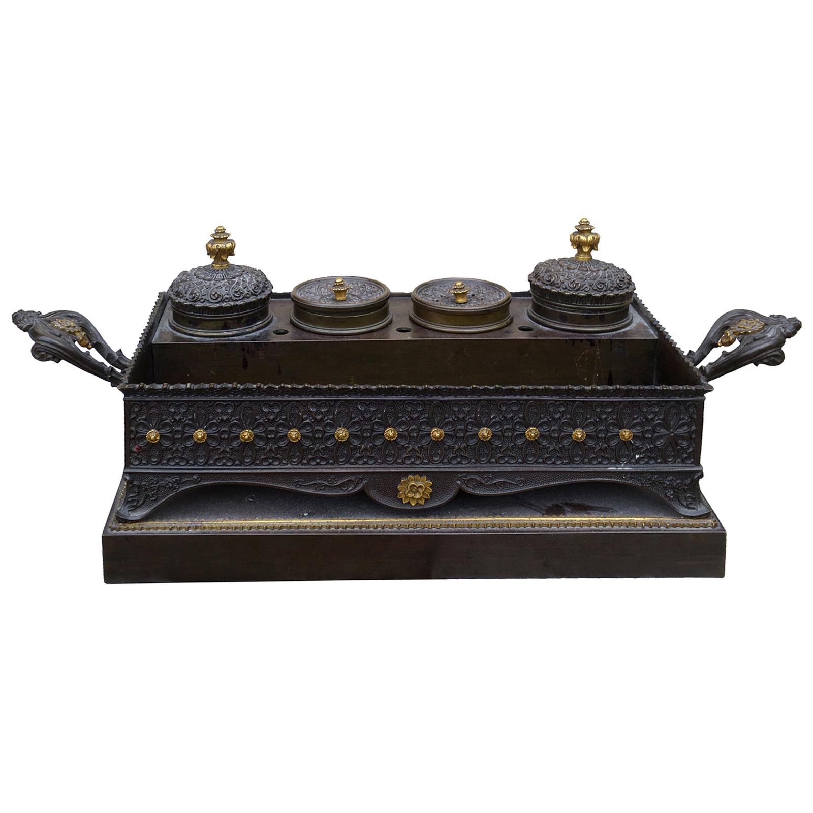 19th Century Grand Tour Bronze Inkwell