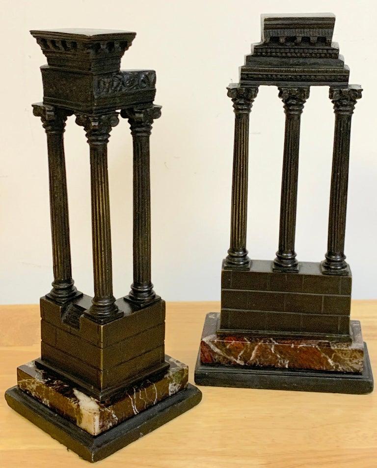 19th Century Grand Tour Bronze Models Roman Forum Columns 8