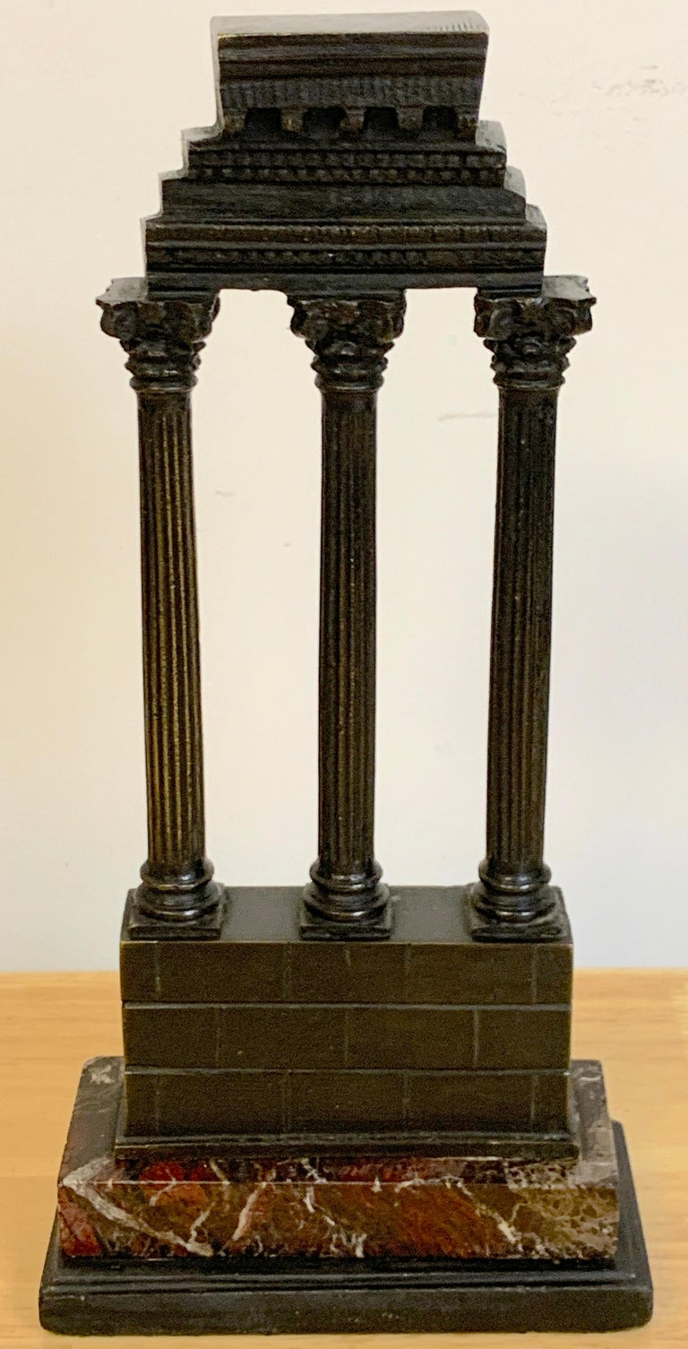 19th Century Grand Tour Bronze Models Roman Forum Columns 2