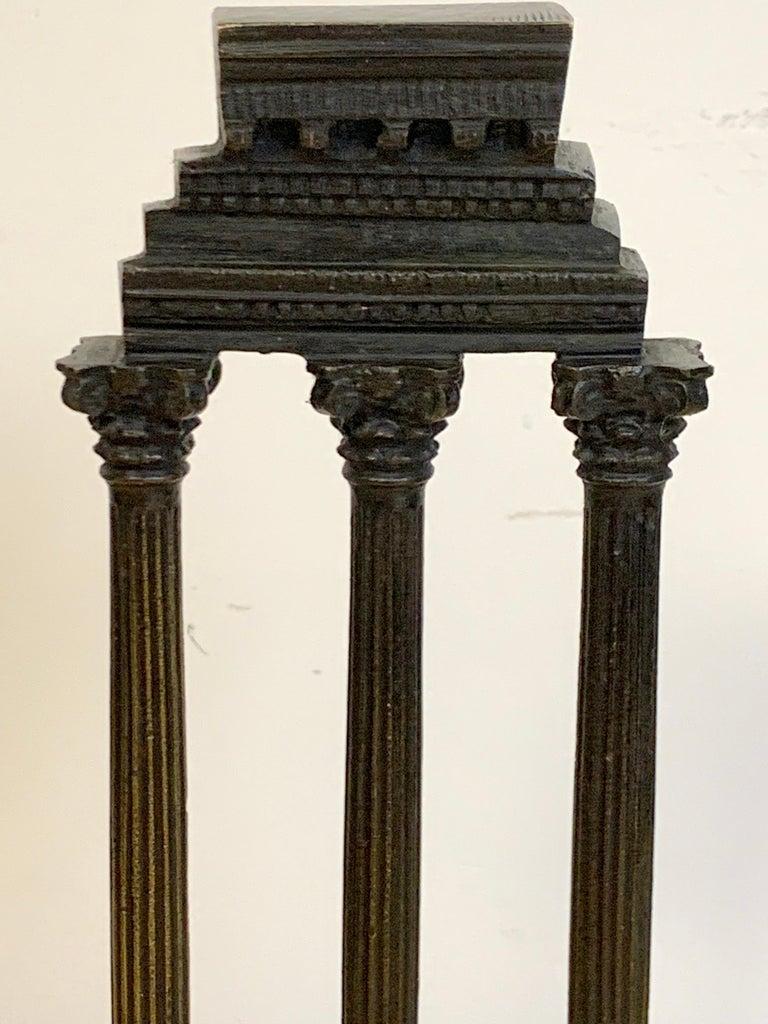 19th Century Grand Tour Bronze Models Roman Forum Columns 3