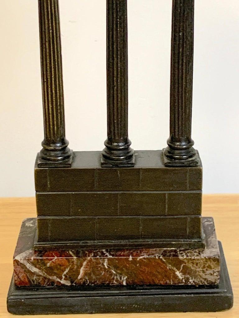 19th Century Grand Tour Bronze Models Roman Forum Columns 4