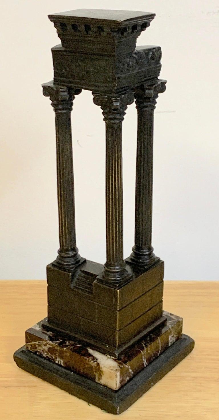 19th Century Grand Tour Bronze Models Roman Forum Columns 5