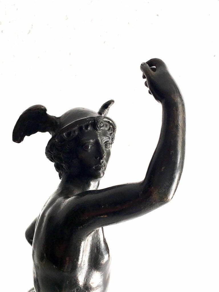 Italian 19th Century Grand Tour Bronze of Mercury For Sale