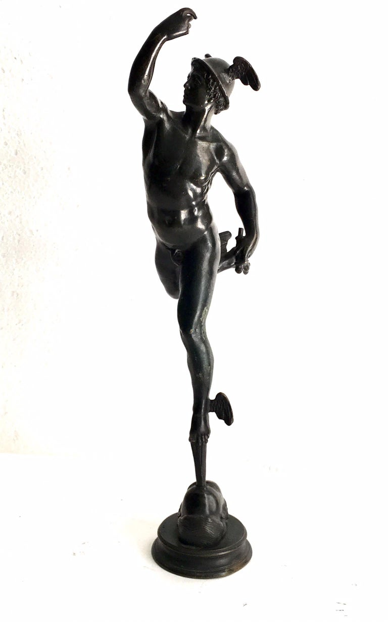 19th Century Grand Tour Bronze of Mercury For Sale 1