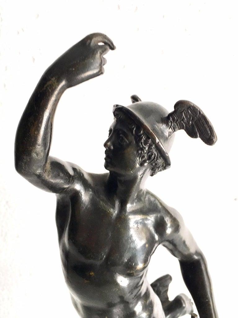 19th Century Grand Tour Bronze of Mercury For Sale 2