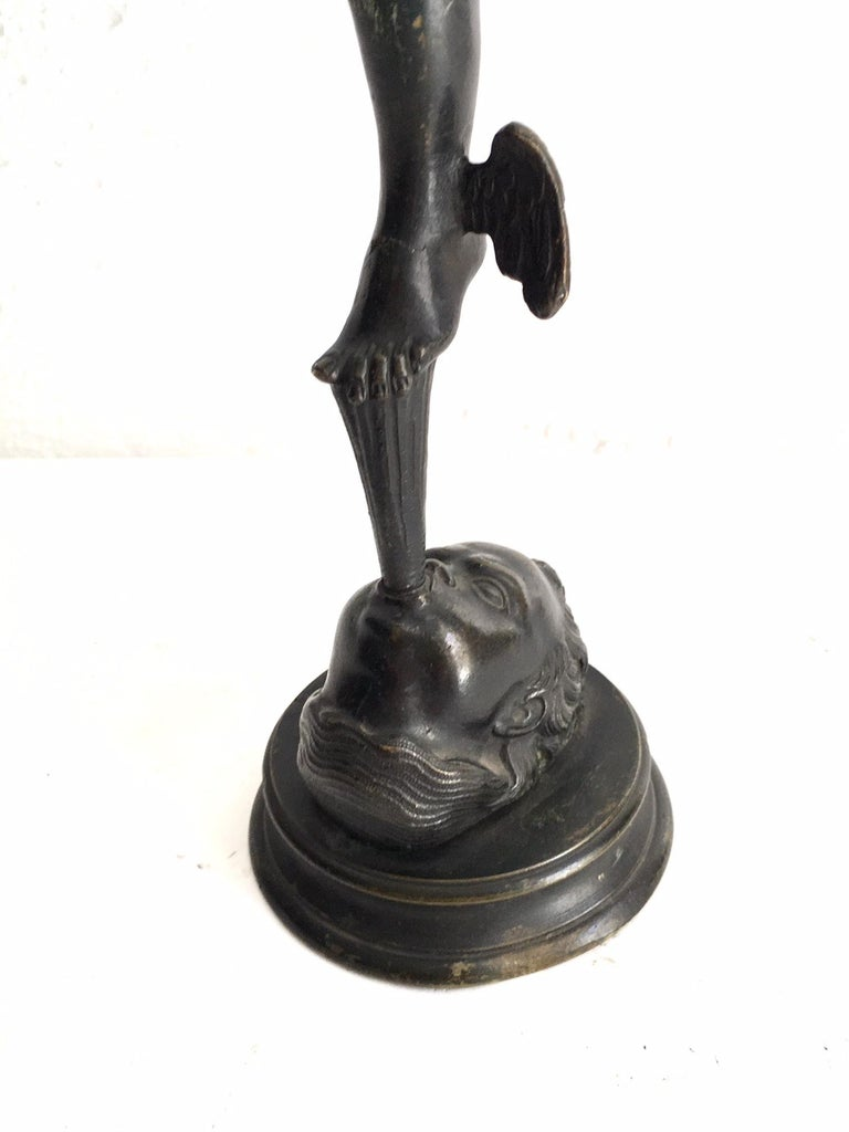 19th Century Grand Tour Bronze of Mercury For Sale 4