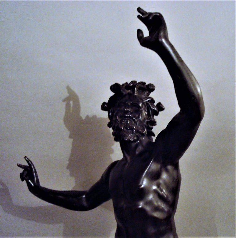 19th Century Grand Tour Bronze Sculpture of the Dancing Faun For Sale 8
