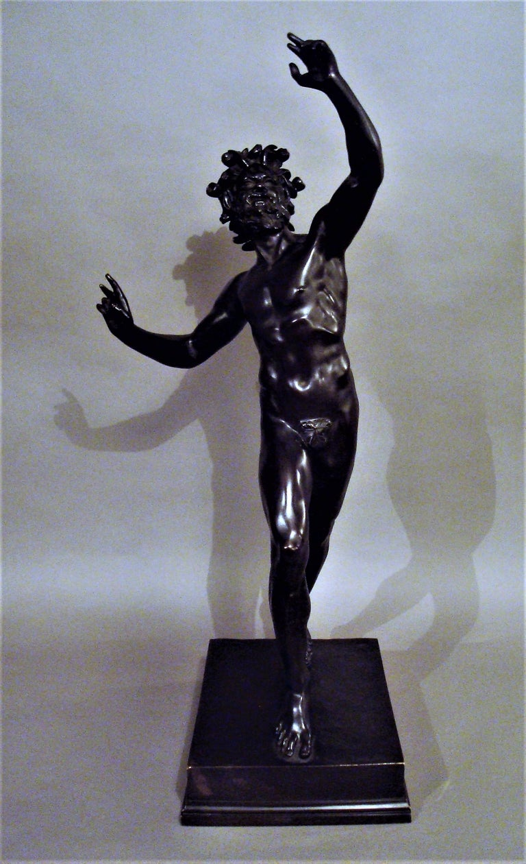 19th Century Grand Tour Bronze Sculpture of the Dancing Faun For Sale 9
