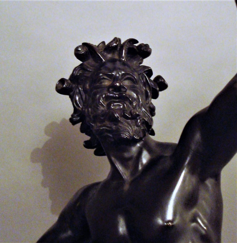 19th Century Grand Tour Bronze Sculpture of the Dancing Faun For Sale 12