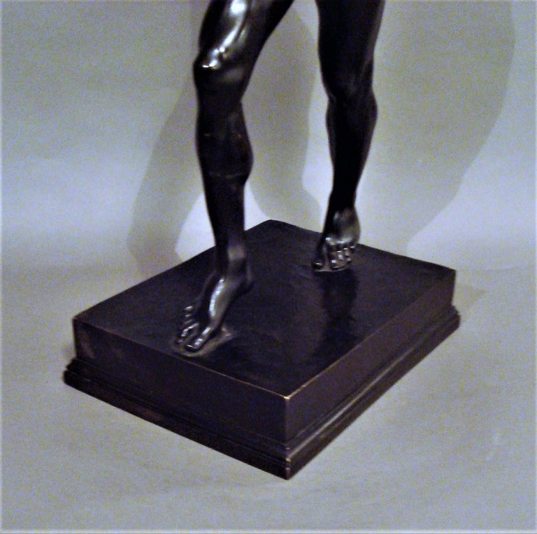 19th Century Grand Tour Bronze Sculpture of the Dancing Faun For Sale 13