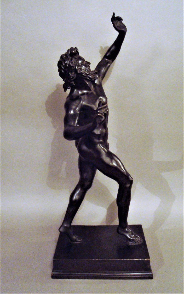 Italian 19th Century Grand Tour Bronze Sculpture of the Dancing Faun For Sale