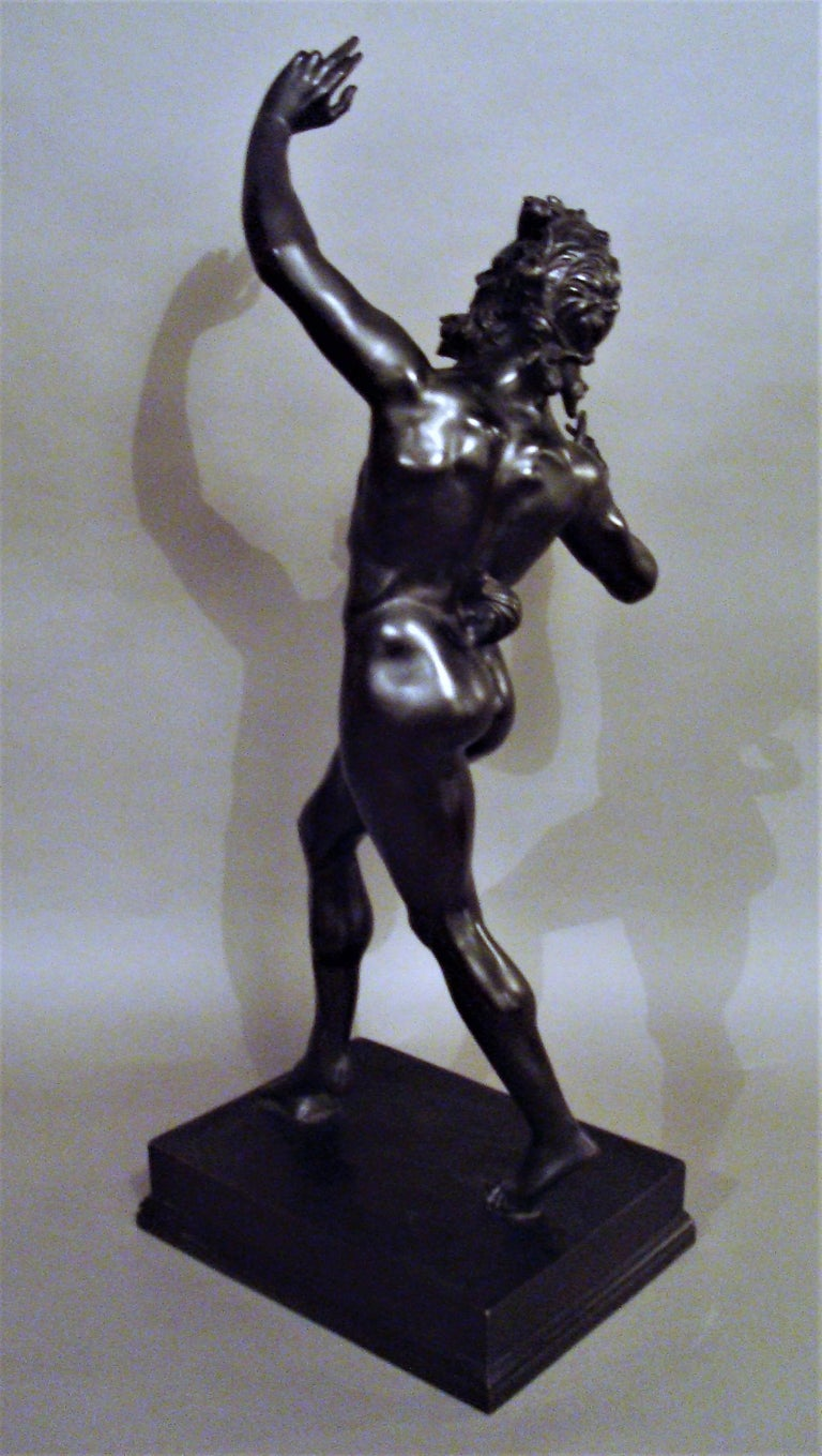 19th Century Grand Tour Bronze Sculpture of the Dancing Faun For Sale 2