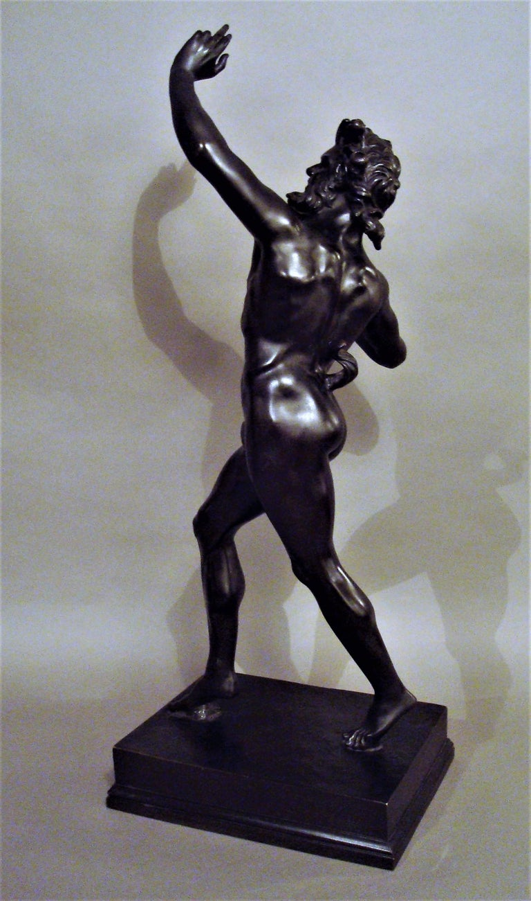 19th Century Grand Tour Bronze Sculpture of the Dancing Faun For Sale 3