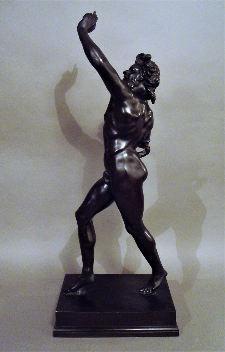 19th Century Grand Tour Bronze Sculpture of the Dancing Faun For Sale 4