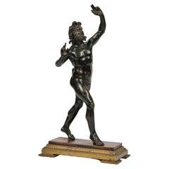 19th Century Grand Tour Bronze-Sculpture of The Dancing Faun