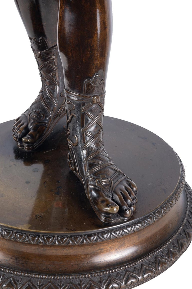 19th Century Grand Tour Bronze Statue of Narcissus For Sale 5