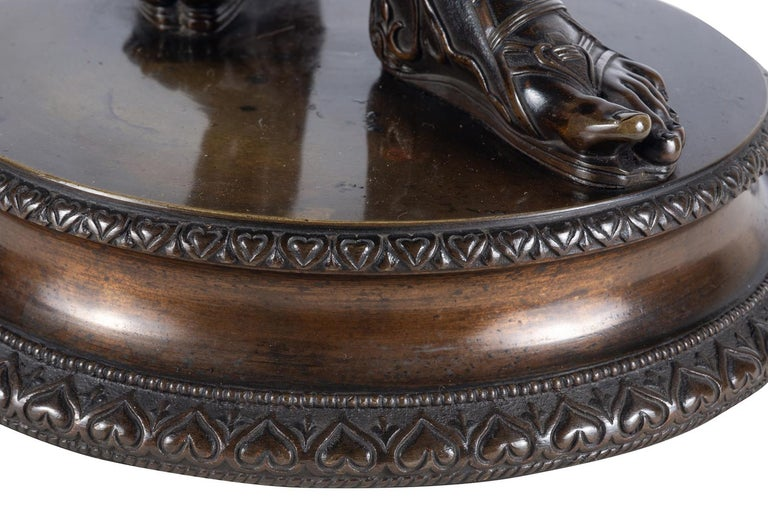 19th Century Grand Tour Bronze Statue of Narcissus For Sale 6