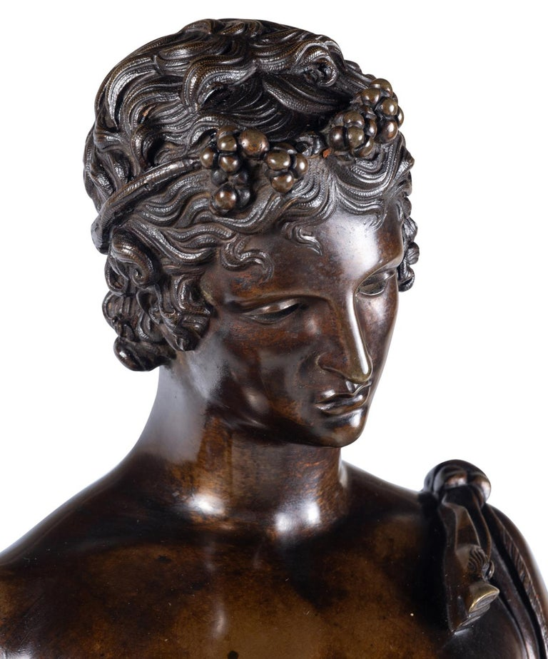19th Century Grand Tour Bronze Statue of Narcissus In Good Condition For Sale In Brighton, Sussex