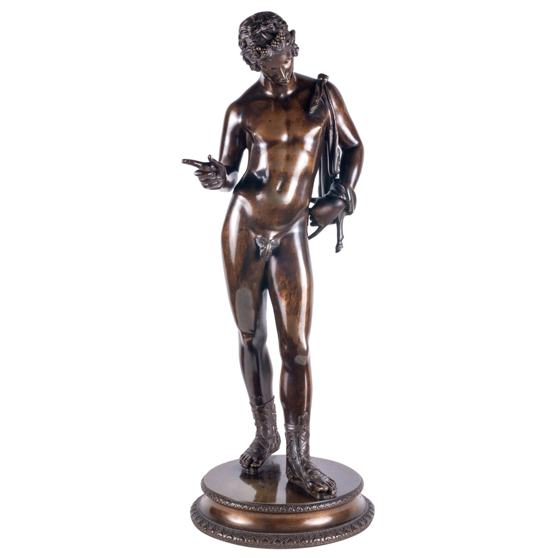 19th Century Grand Tour Bronze Statue of Narcissus