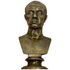 19th Century Grand Tour Bust of Gaius Julius Caesar, Roma Foundry