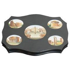 19th Century Grand Tour Micro Mosaic Tablet with Roman Views