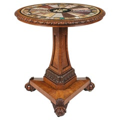 19th Century 'Grand Tour' Table with Specimen Marble and Pietra Dura Stone Top