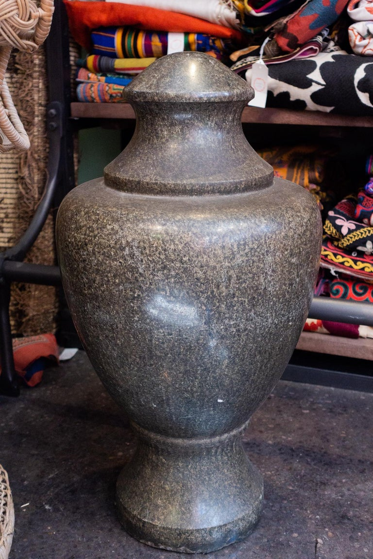 American 19th Century Granite Stone Grand Tour Style Decorative Vase For Sale