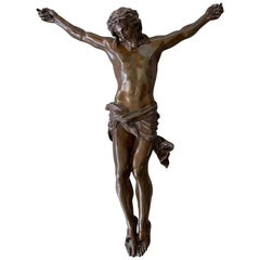 Finest Quality & Condition Bronze Wall Corpus of Christ Attr. to F. Barbedienne